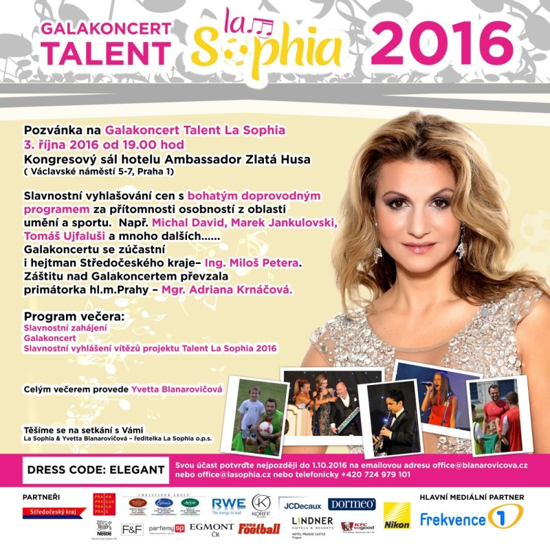 Galakoncert Talent La Sophia – 3. 10. 2016